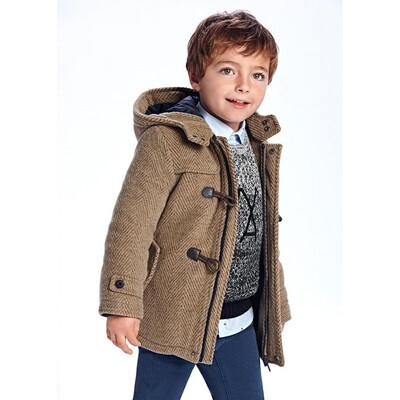 Пальто, з капюшоном, утеплене, Коричневий, Mayoral Іспанія, 22OZ