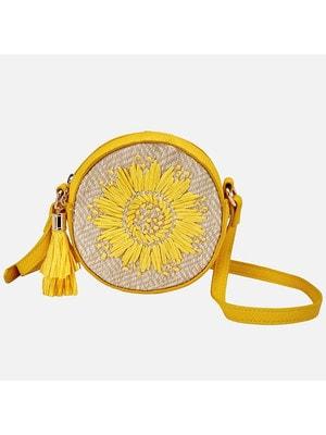 Сумка круглая, Желтый, Mayoral Испания, 19VL