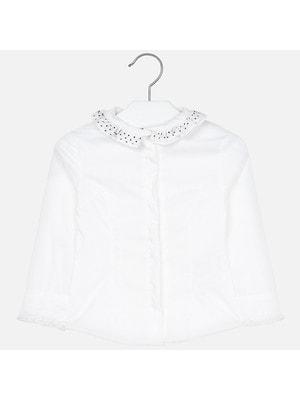 Блуза, довгий рукав, Білий, Mayoral Іспанія, 20OZ