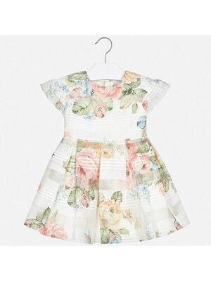 Сукня, в персикових квітах, Кремовий, Mayoral Іспанія, 20VL