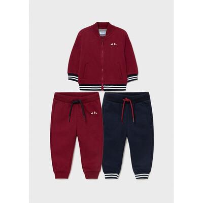 Комплект Спортивний, Кофта + штани 2 шт., утеплений, Бордовий, Mayoral Іспанія, 22OZ