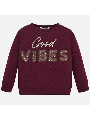 Пуловер, в горошок (VIBES), Бордовий, Mayoral Іспанія, 20OZ