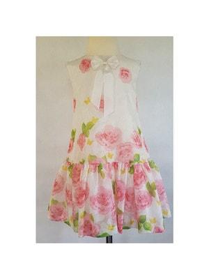 Сукня, в рожевих квітах, Білий, Daga Польща, 19VL