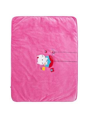 Ковдра, (котик на квіточці), Рожевий, TucTuc Іспанія, 20OZ