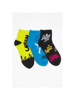 Шкарпетки, 3 пари Зелений, Синій, Темно-синій, Reporter young Польща, 21OZ