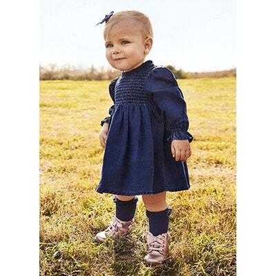 Сукня, джинсова, довгий рукав, Темно-синій, Mayoral Іспанія, 22OZ