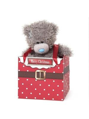 """Іграшка М'яка, Ведмедик Тедді в коробочці """"Чудового Різдва"""" 13 см, Me To You Великобританія"""
