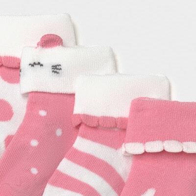 Шкарпетки 4 пари, Рожевий, Mayoral Іспанія, 21VL