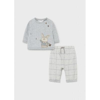 Комплект, Пуловер + штани в клітину, Сірий, Mayoral Іспанія, 22OZ