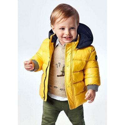 Куртка, з капюшоном, еврозима, Жовтий, Mayoral Іспанія, 22OZ