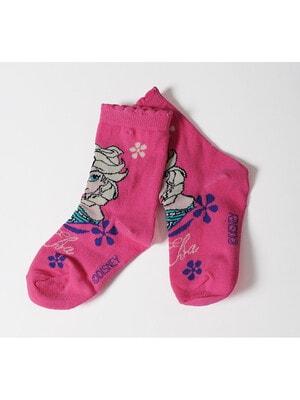 Шкарпетки, FROZEN  (Ельза), Рожевий, Disney Польща, 21OZ