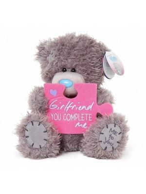 Іграшка М'яка, Ведмедик Тедді з пазлом Girlfriend, You complete Me, 18 см, Me To You Великобританія