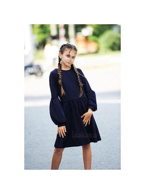 Шкільна форма, Сукня, довгий рукав, Темно-синій, REMIX Польща, 19Ошкола