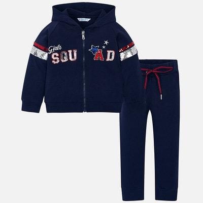 Комплект, Кофта + штани (з паєтками), Темно-синій, Mayoral Іспанія, 19VL