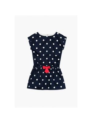 Сукня, в білий горошок (червоний бантик), Темно-синій, BOBOLI Іспанія, 19VL