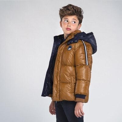 Куртка, з капюшоном, Коричневий, Mayoral Іспанія, 21OZ