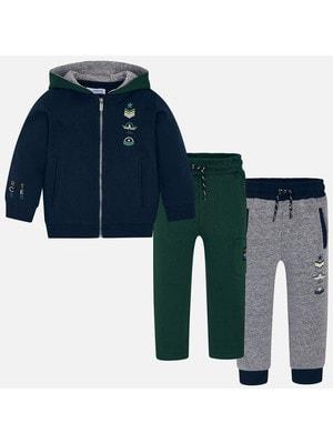 Костюм Спортивний, Кофта + штани 1-зелені, 2-сірі, Темно-синій, Mayoral Іспанія, 20OZ