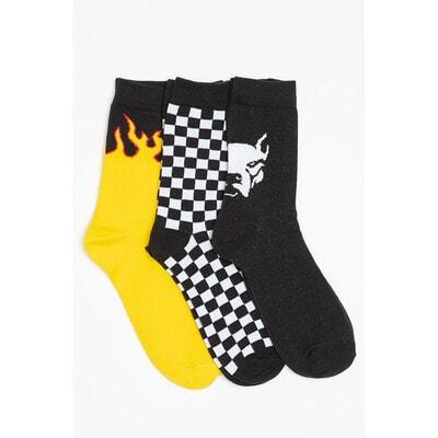 Шкарпетки, 3 пари (1-жовті), Чорний, Reporter young Польща, 21OZ