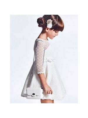 Сукня, мереживна, Білий, Abel & lula Іспанія, 21VL