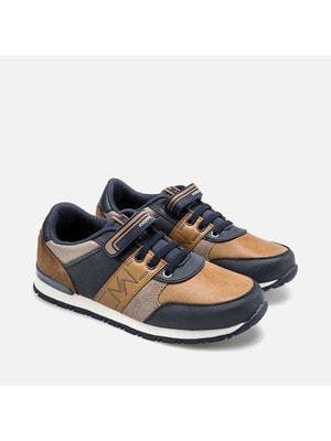 Кросівки, коричневі вставки, Темно-синій, Mayoral Іспанія, 20OZ
