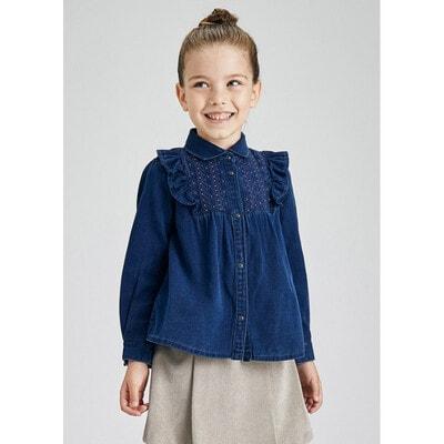 Блуза, джинсова, Темно-синій, Mayoral Іспанія, 22OZ
