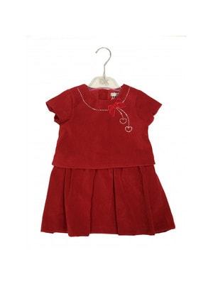 Сукня, короткий рукав велюр, Червоний, Dr.Kid Португалія, 19OZ