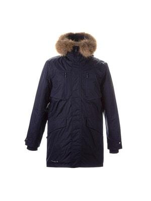 Куртка, з капюшоном (натуральне хутро)  DAVID 1, Темно-синій, HUPPA Естонія, 21OZ
