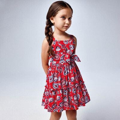 Сукня, в синіх квітах, Червоний, Mayoral Іспанія, 21VL