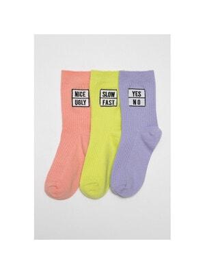 Шкарпетки, 3 пари  Салатовий, Рожевий, Бузковий, Reporter young Польща, 21VL