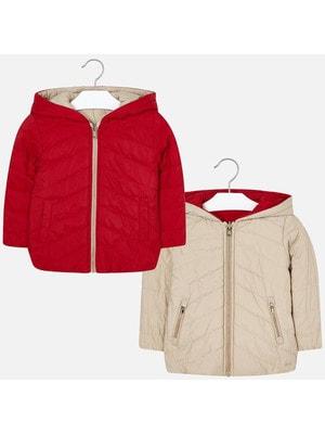 Куртка, двостороння, з капюшоном (бежевий), Червоний, Mayoral Іспанія, 20OZ