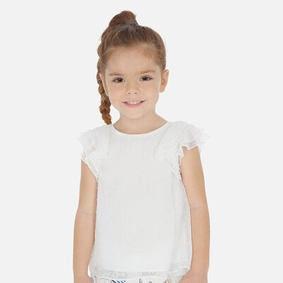 Блуза, в цяточку, Білий, Mayoral Іспанія, 20VL