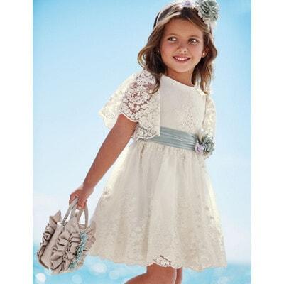 Сукня, з вишивкою, Кремовий, Abel & lula Іспанія, 21VL