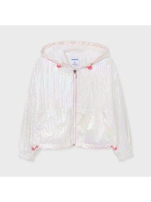 Куртка, з капюшоном (голографічний ефект), Білий, Mayoral Іспанія, 21VL