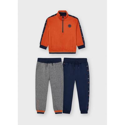 Комплект Спортивний, Пуловер + штани 2 шт., утеплений, Помаранчевий, Mayoral Іспанія, 22OZ