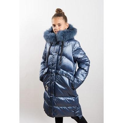 Пальто с капюшоном (звезда с пайеток), Синий, ТМ K`ko, 20OZ