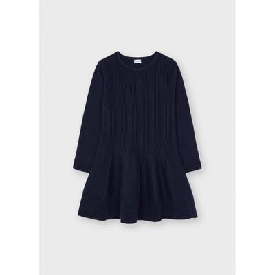 Сукня, довгий рукав, Темно-синій, Mayoral Іспанія, 22OZ