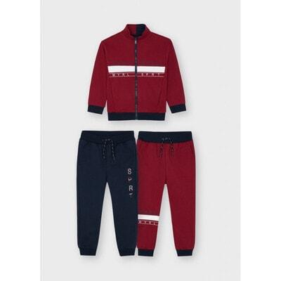 Комплект Спортивний, Кофта + штани 2 шт. (1-сині), утеплений, Бордовий, Mayoral Іспанія, 22OZ