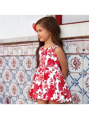 Сукня, в червоних квітах, Білий, Mayoral Іспанія, 19VL