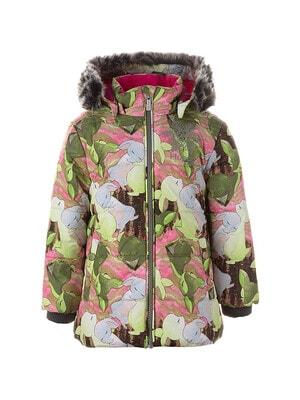 Куртка, з капюшоном, принт  MELINDA, Зелений, HUPPA Естонія, 21OZ
