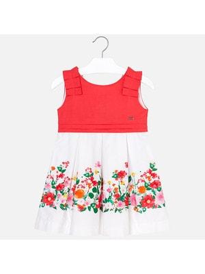Сукня, знизу квіти, Червоний, Mayoral Іспанія, 19VL