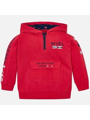 Пуловер, з капюшоном, Червоний, Mayoral Іспанія, 19VL