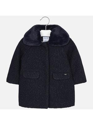 Пальто, (комір з хутра відстібається), Темно- синій, Mayoral Іспанія, 20OZ
