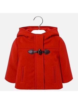 Пальто, з капюшоном, Червоний, Mayoral Іспанія, 19OZ