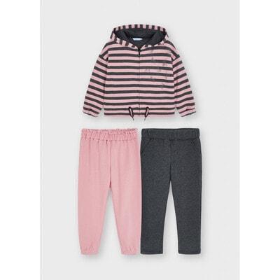 Комплект, Кофта + штани 2 шт. (1 - сірі), Рожевий, Mayoral Іспанія, 22OZ