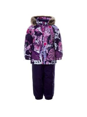 Комплект, Куртка + напівкомбінезон AVERY, Фіолетовий, HUPPA Естонія, 21OZ