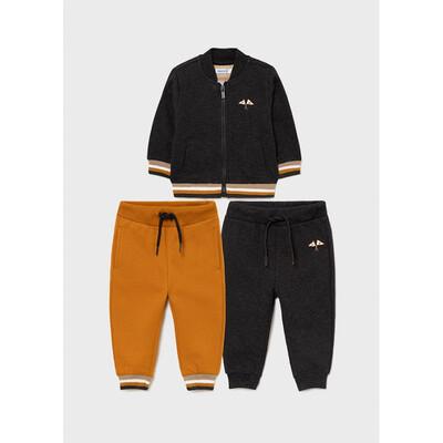 Комплект Спортивний, Кофта + штани 2 шт. (1 - бурштинові), утеплений, Темно-сірий, Mayoral Іспанія, 22OZ