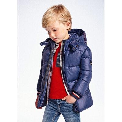 Куртка, з капюшоном, утеплена, Синій, Mayoral Іспанія, 22OZ