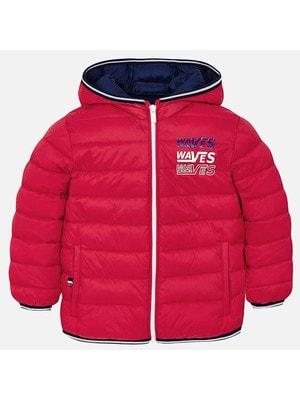 ОДЯГ Хлопчик Верхній Куртка, з капюшоном - сумочка, Червоний, Mayoral Іспанія, 19VL