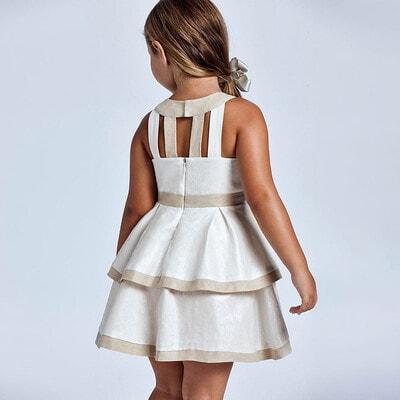 Сукня, з темною окантовкою, Бежевий, Mayoral Іспанія, 21VL
