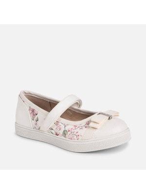 Туфлі, в квітах, Білий, Mayoral Іспанія, 19VL